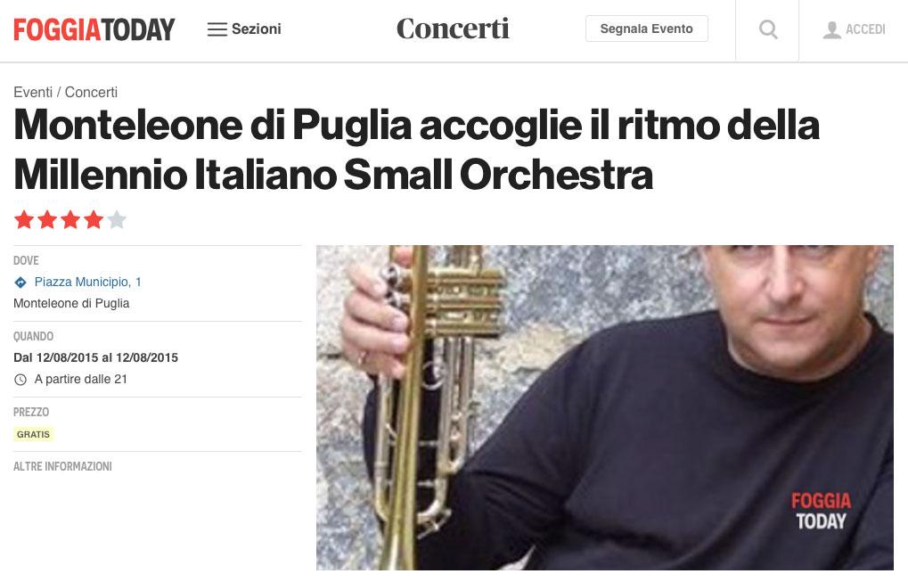 A Monteleone la Millennio Italiano Small Orchestra in concerto